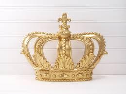 recital white daisies wall decor gold princess crown gold crown crown wall decor little girls room deco