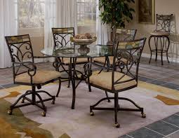 Dining Room Chairs With Casters And Arms Swivel Dining Room Chairs With Casters Furniture Swivel Chairs