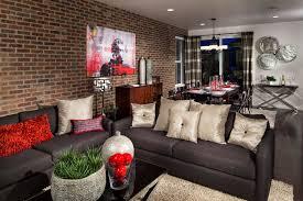 model living rooms: coal creek sparkle model living area contemporary living room