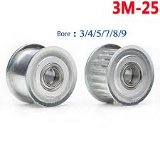 3M-25T Idler Timing Pulley Bearing Bore 3mm-9mm Synchronous ...