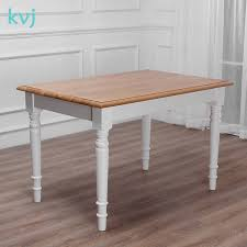 China Kvj-7257 America Oak <b>Wood</b> White <b>Rectangle Nordic</b> Dining ...