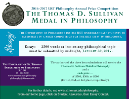 essay contest philosophy university of st thomas minnesota direct all questions about the contest to philosophy edu