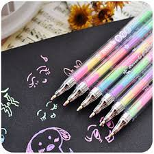 5 pcs/lot Kawaii 6 Colors in 1 Watercolor Gel Pen Highlighters Water ...