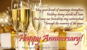 Anniversary Messages for Friends Messages, Greetings and Wishes ...
