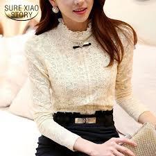 <b>SURE XIAO STORY</b> Lace Women Tops Blusas Blouse Shirts Fleece ...