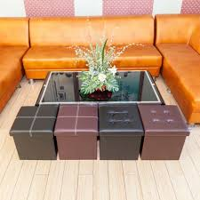 [<b>FCH</b>] <b>PU Leather Footstool</b> with Leather Footstool Brown 38*38*38cm
