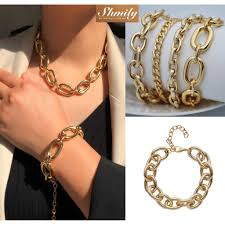 READY STOCK   SHMILY <b>Hot</b> European Alloy Chain Bracelet Gold ...