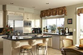 primitive kitchen ideas small windows modern fabric kitchen curtain ideas with red flowery design to window
