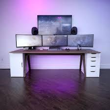gaming desktop setup more amazing office desk setup ideas 5