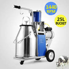 25L 110V <b>550W</b> Farm Electric Cow Milking Machine 1440rpm/min ...