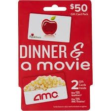 applebee s amc theaters dinner a movie gift card pack applebee s amc theaters dinner a movie gift card pack