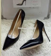 <b>ALMUDENA</b> Top Brand Matte Leather High Heel Shoes <b>Nude</b> ...
