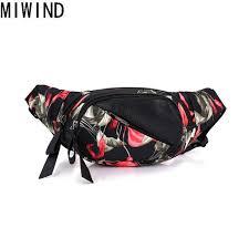 Trend Polyester <b>MIWIND</b> 3D Print Belt Bags Waterproof waist pack ...