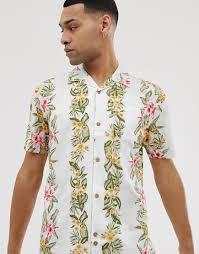 Белая гавайская <b>рубашка</b> из вискозы с цветочным принтом <b>Bellfield</b>