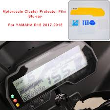 2017 2018 R15 Motorcycle <b>Cluster Scratch Protector Film</b> Blu ray ...