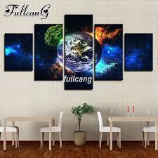 <b>FULLCANG Diy 5 Piece</b> Full Square Diamond Embroidery Earth ...