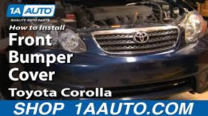 How To Replace Front <b>Bumper</b> Cover 03-08 Toyota Corolla - YouTube