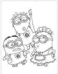 Small Picture The Minion Character Girl And Boy Coloring Pages Despicable Me
