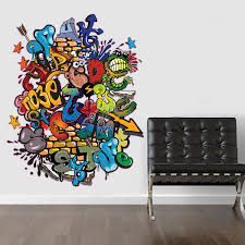 Small Picture VC Designs Ltd TM LARGE Full Colour Graffiti Wall Sticker Wall