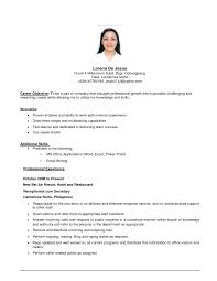 resume examples server waitress resume sample for objective with    resume examples resume objective examples retail   overall technical skills and professional experience resume