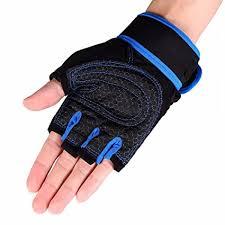 Buy Handcuffs 1 Pair Weight Lifting Gloves <b>Half Finger Fitness</b> ...