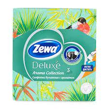 <b>Салфетки косметические Zewa Deluxe</b> Арома коллеция, 60шт ...