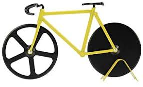 Pizza Cutter - Bicycle Pizza Cutter: Black & Yellow ... - Amazon.com