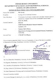 circular pondicherry university ph d public viva voce examination of mr k anil on 27 03 2017