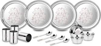 Uddhav Gold Collection Stainless Steel Heavy Classic Touch <b>28 pcs</b>...