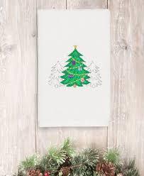 Linum Home Christmas Three Trees <b>100</b>% Turkish Cotton <b>Hand</b> ...