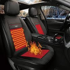 <b>KKYSYELVA 1PCS Car</b> Heated <b>Seat</b> Covers Auto 12V Heating ...