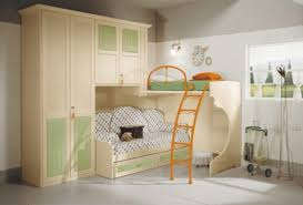 extravagant wooden style wardrobe bunk bed for kids bedroom modular furniture