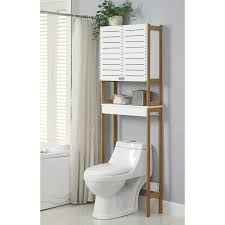 bathroom space savers bathtub storage:  elegant oia rendition quot x quot free standing over the toilet and bathroom space saver over