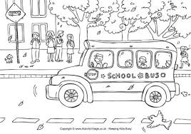 Small Picture back to school coloring pages sarahtituscom school bus coloring