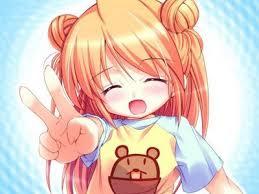 Resultat d'imatges de chica anime feliz