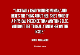 I actually read 'Wonder Woman,' and here's the thing about her ... via Relatably.com