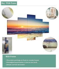 Wall Art Framed <b>Modular Abstract</b> Canvas Painting <b>5 Pieces</b> ...
