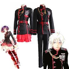 Halloween Uniform COS <b>D</b>.<b>Gray</b>-<b>man Allen Walker</b> Akuma Cosplay ...