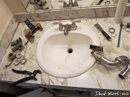 inspiration removing bathroom sink