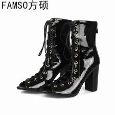 <b>FAMSO</b> 2019 <b>New</b> Fashion <b>Women Boots</b> Black Blue Denim Lace ...
