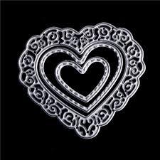 <b>3 Pcs</b>/<b>set</b> Cutting Dies <b>Metal Love Heart</b> Cutting Dies Stencils For ...