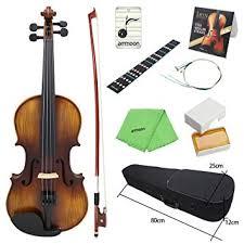 ammoon <b>Acoustic</b> Violin Fiddle <b>4/4 Full Size</b> Kit Solid Wood Matte ...