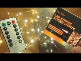 100 <b>LED Fairy Lights</b> with Remote Control by Innotree - YouTube