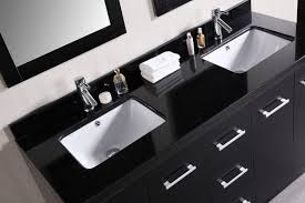 bathroom vanities tops choices choosing countertops: dark bathroom vanities tops with sinks under silver crane color beside bath set and stack towel closed simple mirror on plain wall paint suitable on
