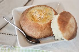 Image result for soup in a bread bowl