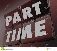 part time work words retro tile clock under employment low pay w part time work words retro tile clock under employment low pay w