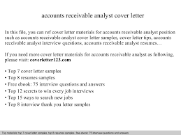 accounts receivable analyst cover letter accounts receivable analyst cover letter