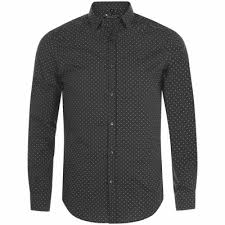 <b>Рубашка мужская BECKER MEN</b>, темно-серая с белым с логотипом