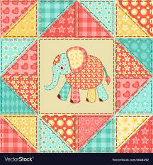 Elephant <b>Patch Cute</b> Vector Images (23)