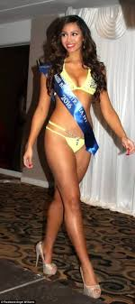 darwin w angel williams wins bizarre beauty pageant miss the women needed to send in photos of themselves in swimwear to enter the competition